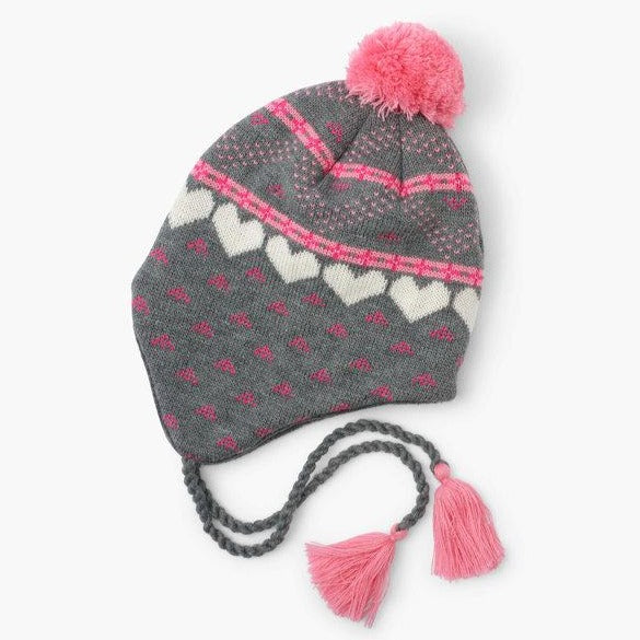 Winter Hearts Fleece Lined Trapper Hat