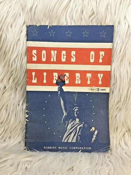 Songs of Liberty Robbins Music 1943 Pocket size song books I24