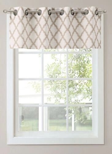 "SONOMA Life Dallon Window Valance 16.5"" X 48"" 2 Panels, One Set Beige/Ivory A12"