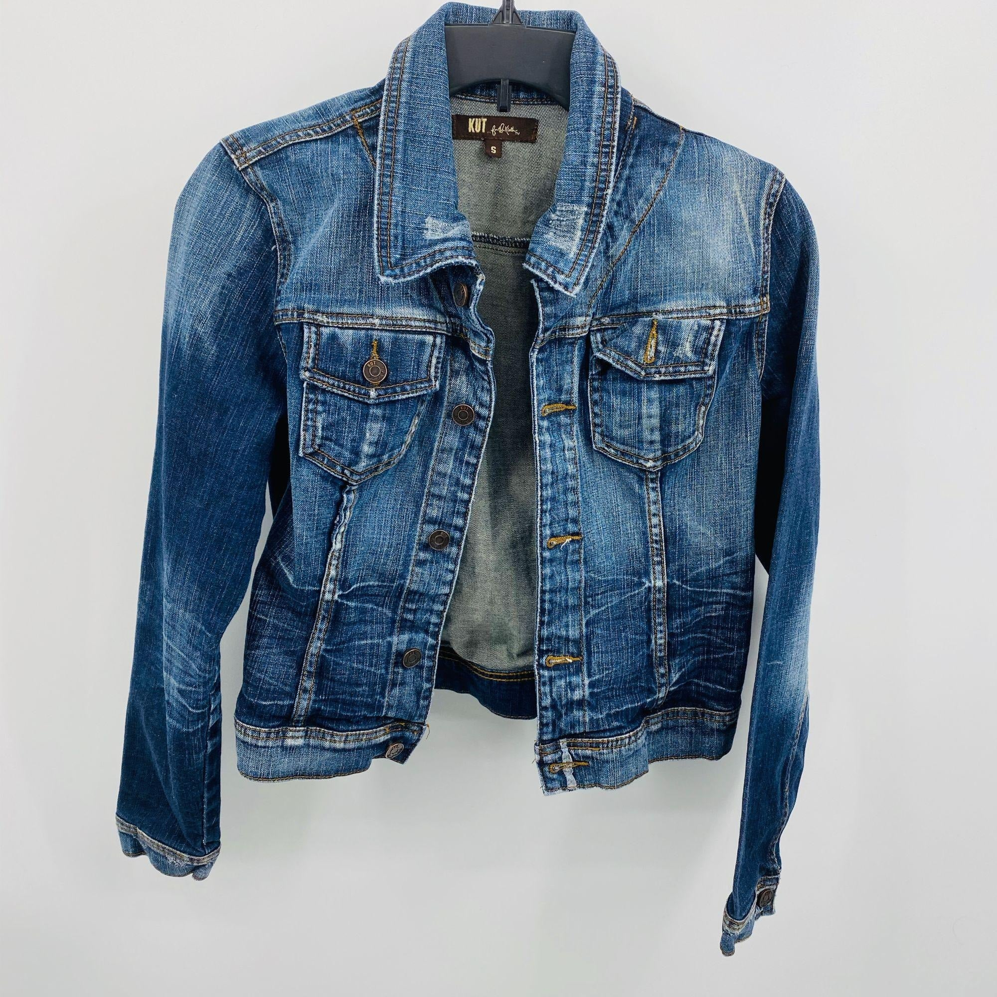 KUT Denim Jean Jacket SZ Small