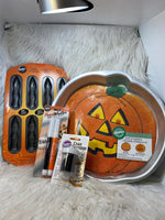 Wilton 4 pc Halloween lot baking supplies cookies cakes jack o'lantern J14