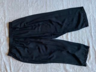Paradiso Black crop pants sequence hem Sz XL L2