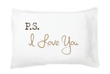 Faceplant Dreams P.S. I Love You ~ Pillowcase soft 100% cotton Single or King Set