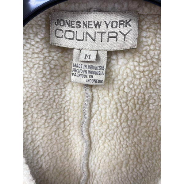 Jones of NY Country Suede Sherpa lined short coat jacket