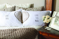 Faceplant Dreams Love You/ Love You More - Pillowcase soft 100% cotton Set 2