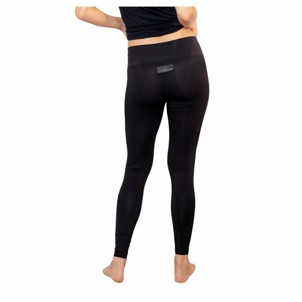 Faceplant Dreams Bamboo® Basic Legging Pant Yoga Workout Leisure Wear BLK MD
