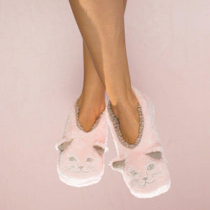 Faceplant Dreams Cat Naps Footsies Pink Grey Small 5/6