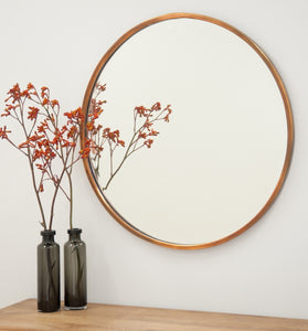 Arthur Copper Round Mirror