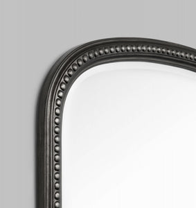 Beaded Arch Antique Black 104 x 174 cm Mirror