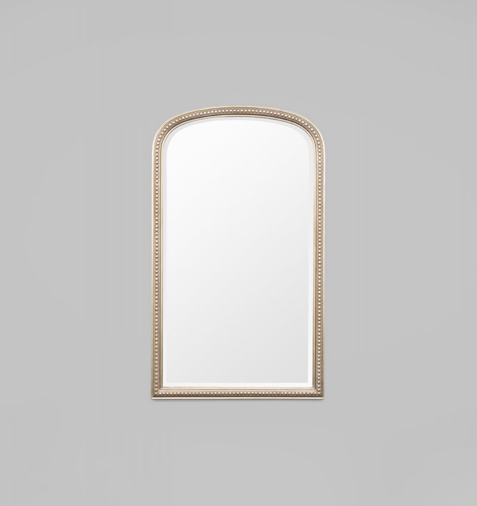 Beaded Arch Antique Silver 104 x 174 cm Mirror
