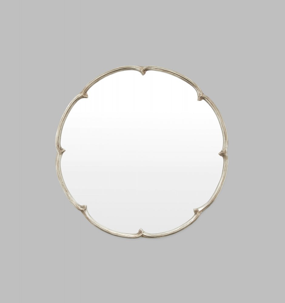 French Maid Silver Mirror