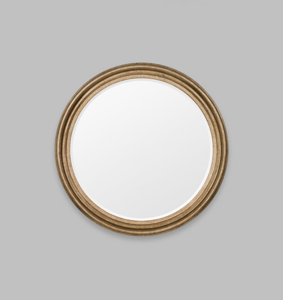 Iona Round: Antique Silver Mirror