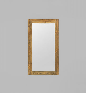 Rustic Timber Bleech: 100 x 180 cm Mirror
