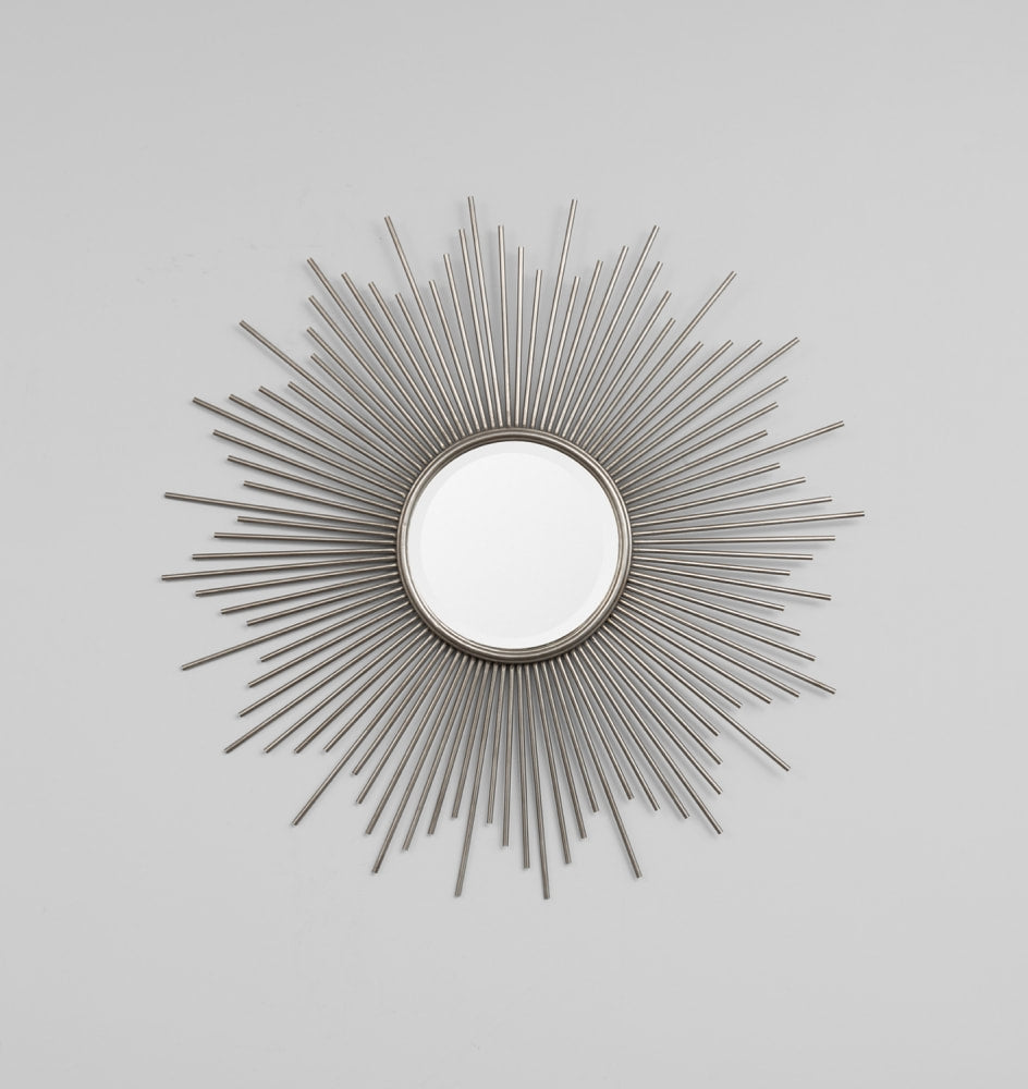 Classic Starburst Antique Silver Mirror