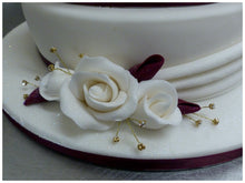 Load image into Gallery viewer, Two Tier Swags and Roses Celebration Cake