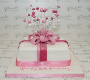 Parcel with Bow Celebration Cake
