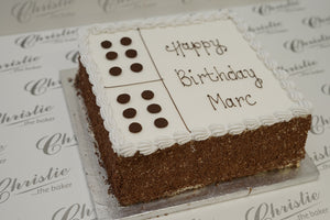 "Celebration - 10"" Domino Cake - Square"