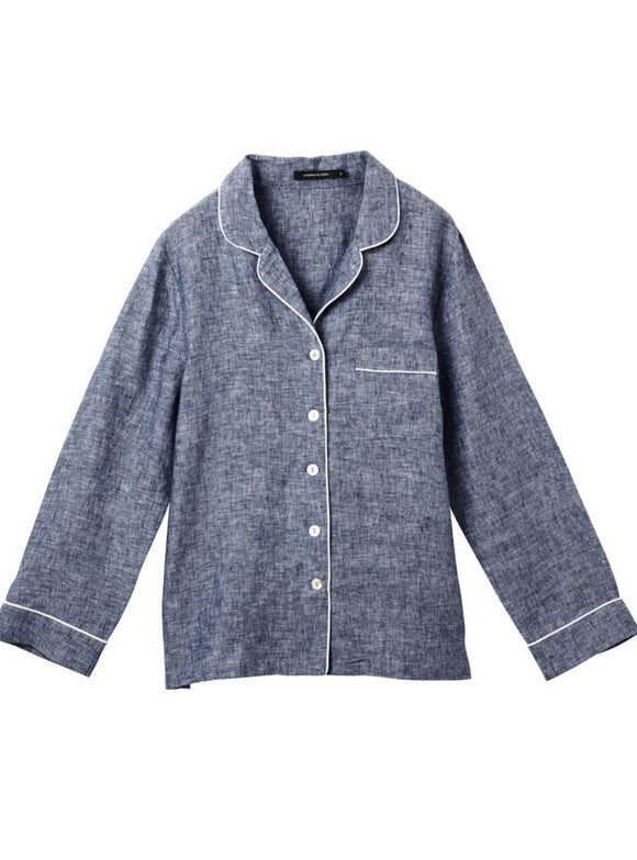 ANDREA & JOEN Valentine Long Sleeve Shirt Denim