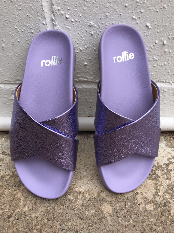 Rollie Nation Tide Cross Slide Lilac Metallic Tumble