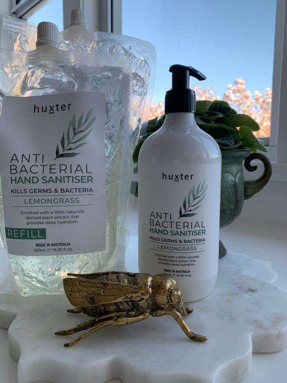HUXTER REFILL Anti-Bacterial Hand Sanitiser Lemongrass 500ML