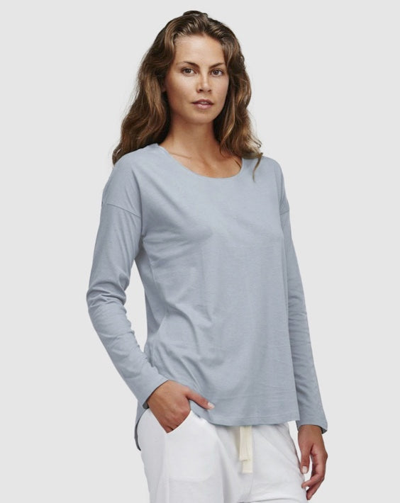 Cloth & Co  Long Sleeve Crew Perriwinkle