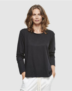 Cloth & Co Long Sleeve Crew Black