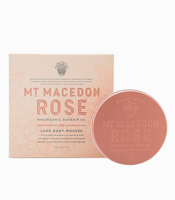Mt Macedon Rose luxe body mousse