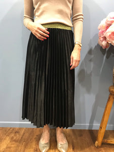 Frankie's Melbourne Pleated Skirt Black