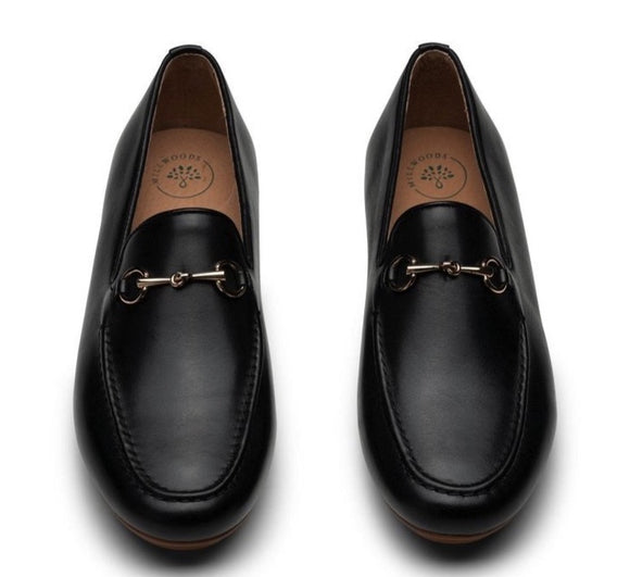 MILLWOODS Leather Loafer Black