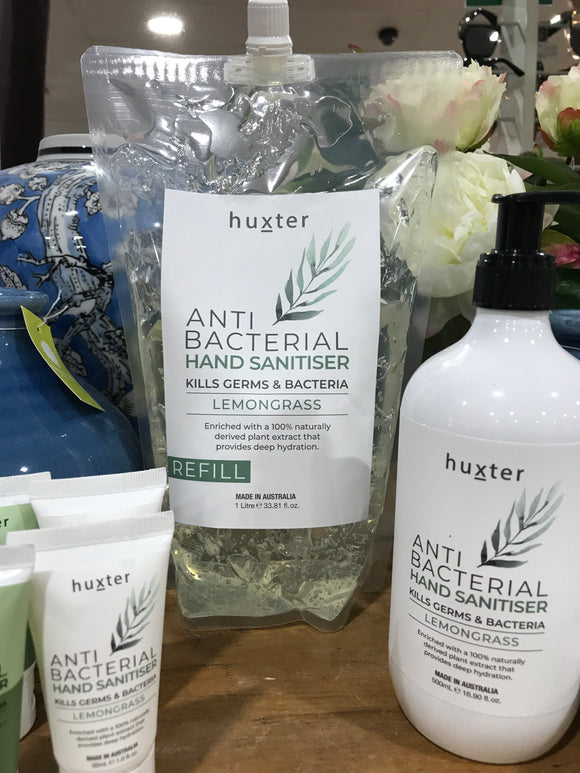 HUXTER  Anti-Bacterial Hand Sanitiser Lemongrass 1L REFILL