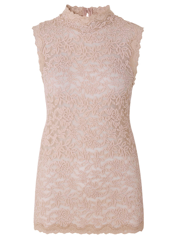 rosemunde high neck lace top Whisper