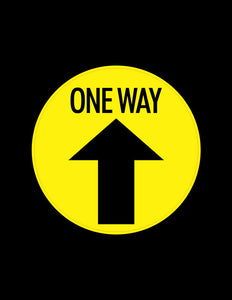 "One Way Arrow Floor Stickers - 6"" Set of 12"