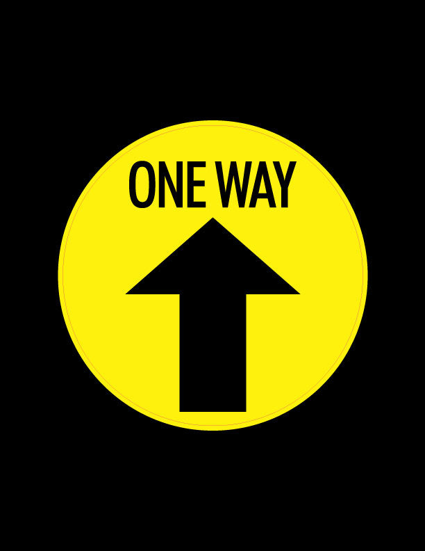 One Way Arrow Floor Stickers - 6