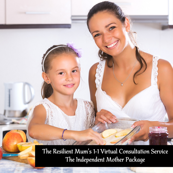Mother and daughter preparing food together in the kitchen, The Resilient Mum