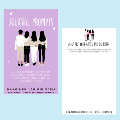Journal prompts for Christian women by The Resilient Mum.