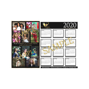 2020 The Empowered Woman Calendar, designed and created by The Resilient Mum