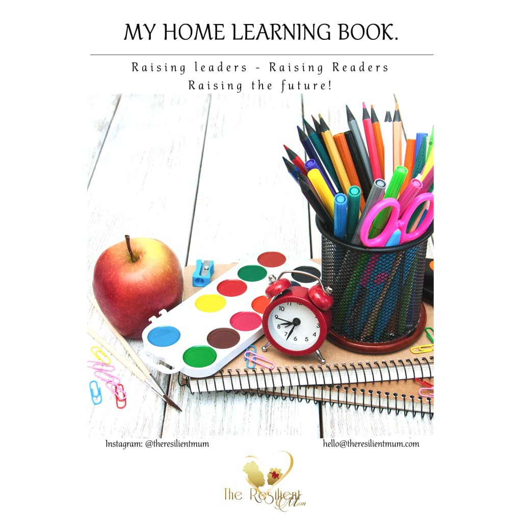 My Home Learning Book By The Resilient Mum.