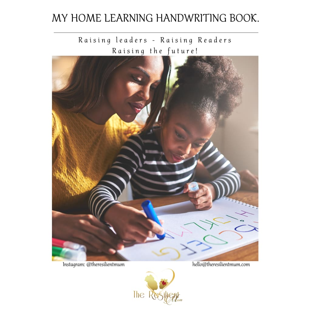 My Home Learning Handwriting Book By The Resilient Mum.
