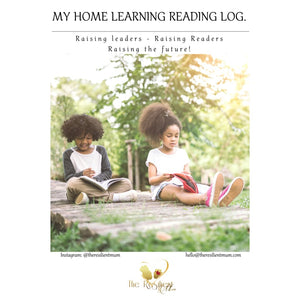 My Home Learning Reading Log By The Resilient Mum.