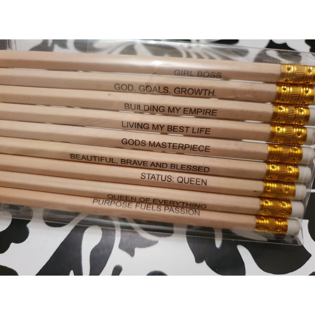 Quote/Affirmation Pencils (9 pack) - Stationery