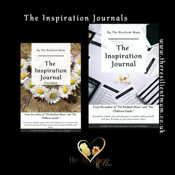 The Inspiration Journals for Mothers, Women and Teenagers by The Resilient Mum.