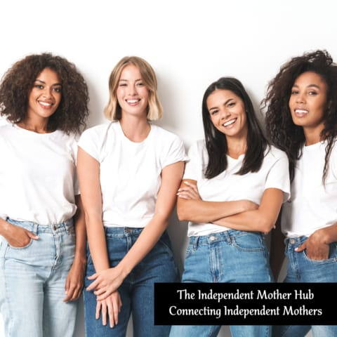 4 diverse women wearing t-shirts and jeans, The Resilient Mum