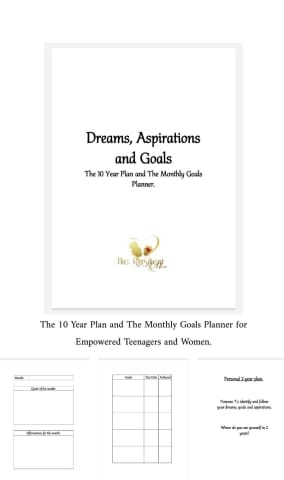 The 10 Year Plan & The Monthly Goals Planner For Empowered