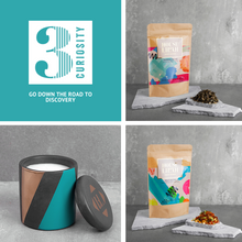 Load image into Gallery viewer, House of Lilah - Curiosity Gift Set - Concrete Soy Candle & 2 x Tea