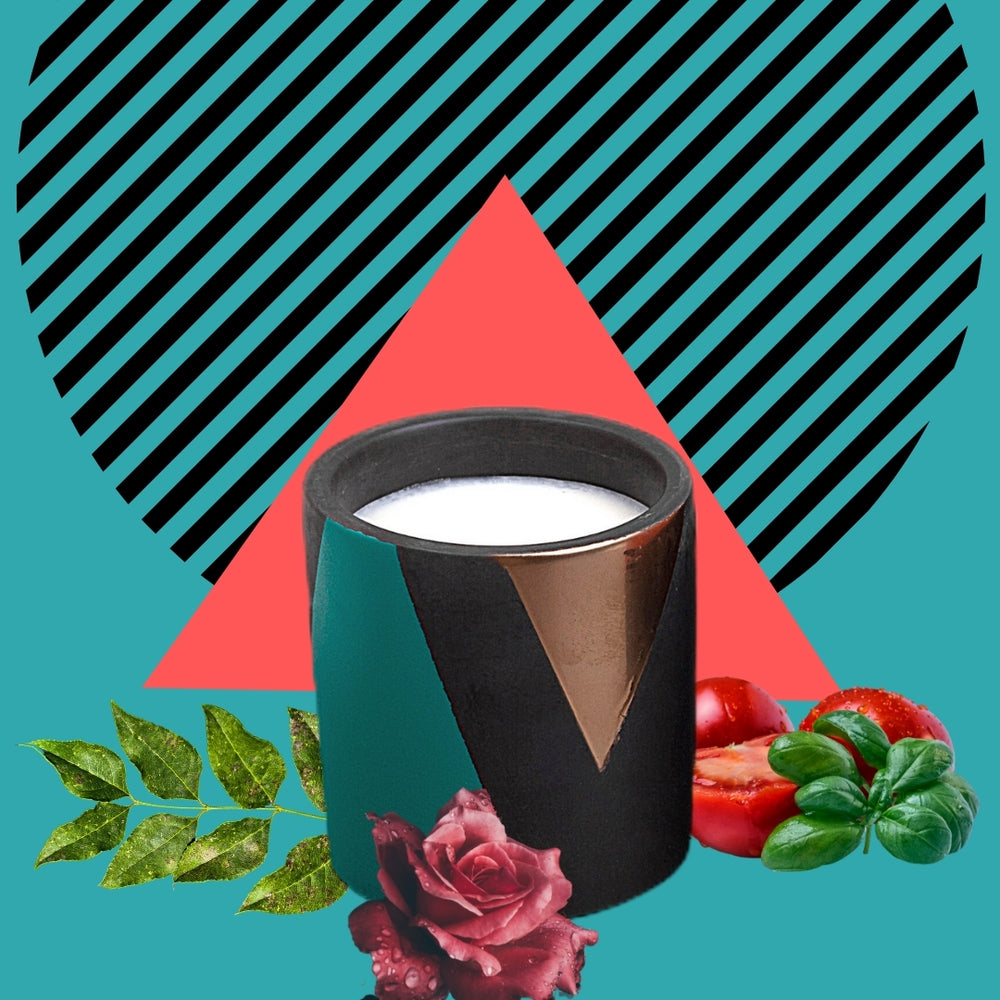 House of Lilah - Tomato Leaf, Concrete Soy Candle