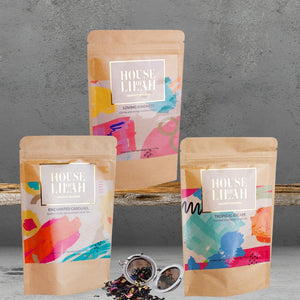 House of Lilah - Tea Tasting Gift Sets - 3 x Loose Leaf Tea + Tea Strainer