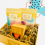 House of Lilah - Mindfulness Gift Set - Concrete Soy Candle & 2 x Tea