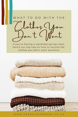 What to do with the clothes you don't want