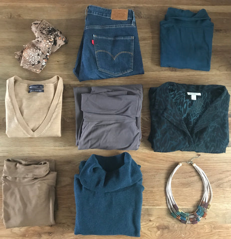The items I chose for the fashion fast capsule wardrobe challenge