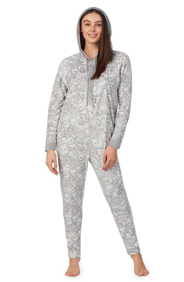 Long Sleeve Hooded Pj Onesie